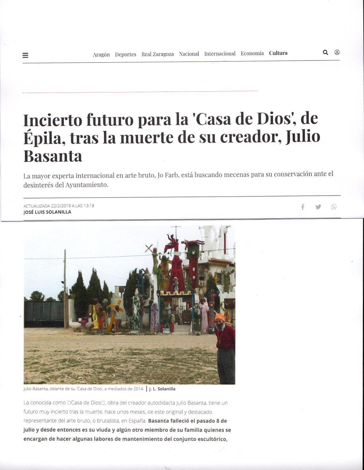 Incierto futuro para la 'Casa de Dios', de Épila, tras la muerte de su creador, Julio Basanta _ Heraldo.es_Page_1