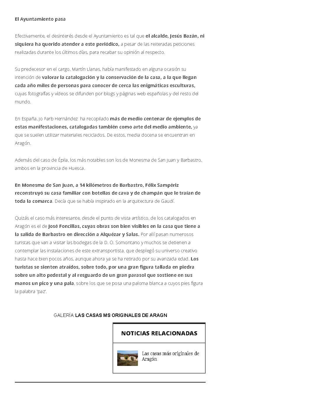 Incierto futuro para la 'Casa de Dios', de Épila, tras la muerte de su creador, Julio Basanta _ Heraldo.es_Page_3